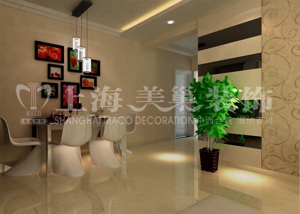 中原新城86平两室两厅现代简约风格餐厅装修效果图