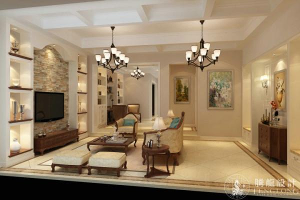 绿洲香格丽花园别墅户型装修欧式风格设计方案展示,腾龙别墅设计成建飞作品,欢迎品鉴!