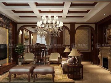 长泰东郊御园别墅装修美式古典