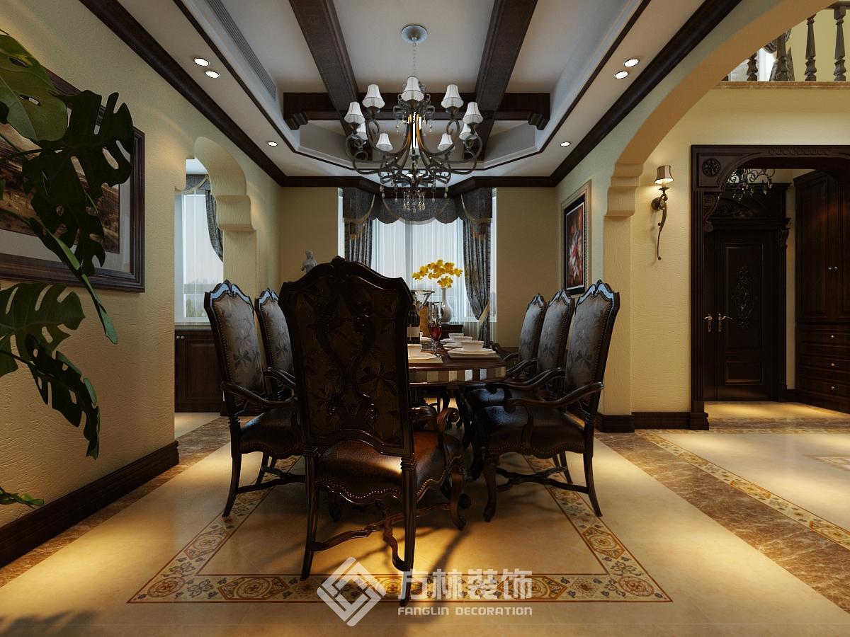 中海盛京府 欧式风格 别墅 餐厅图片来自方林装饰在方林中海盛京府270平欧式风格的分享