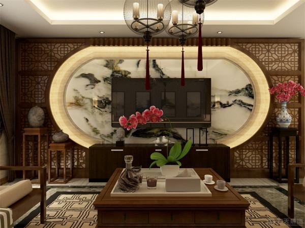 该户型整体风格是中式风格       适合于三口之家居住, 以新中式建筑为代表的中国古典建筑的室内装饰设计风格。