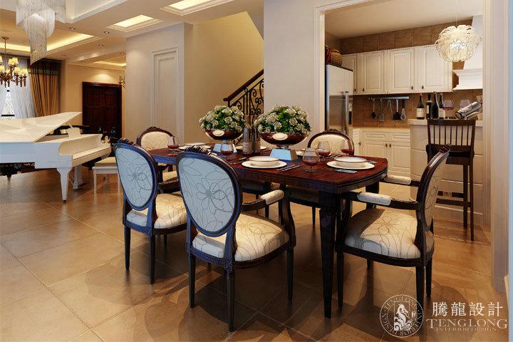 红墅1858 别墅装修 别墅设计 欧式风格 腾龙设计 周灏作品 餐厅图片来自室内设计师周灏在红墅1858别墅装修欧式风格设计的分享