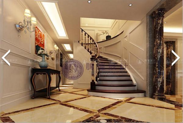 绿波花园300平别墅户型装修美式风格设计方案展示,腾龙别墅设计师周灏作品,欢迎品鉴!