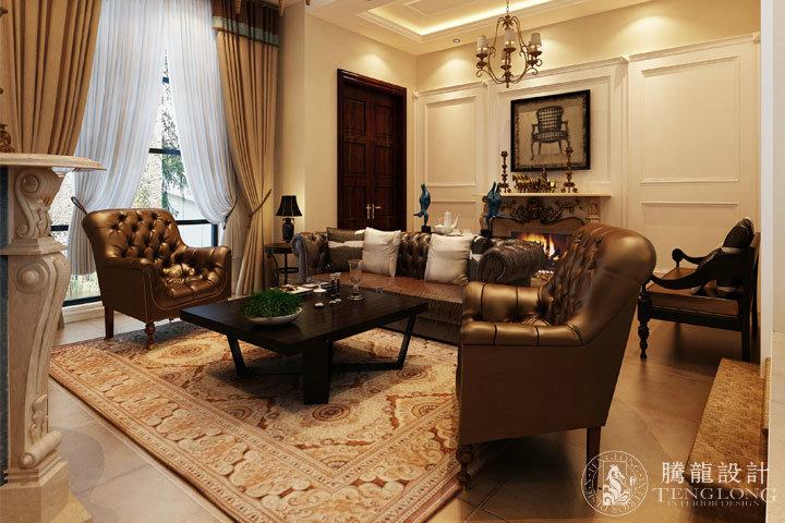 红墅1858 别墅装修 别墅设计 欧式风格 腾龙设计 周灏作品 客厅图片来自室内设计师周灏在红墅1858别墅装修欧式风格设计的分享