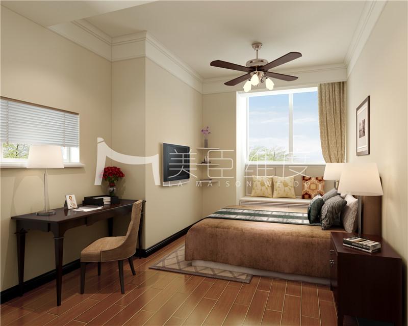 美臣维度 武汉装修 万科红郡 简约美式 卧室图片来自武汉美臣维度全案设计在万科红郡330平简约美式风的分享
