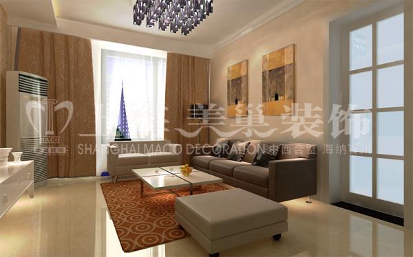 中原新城86平两室两厅现代简约风格客厅装修效果图