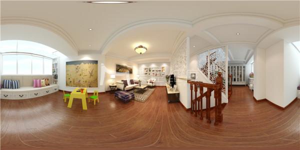 本案为别墅住宅,室内使用面积为330平,为一家四口设计的房屋,有一个未出生的宝宝。