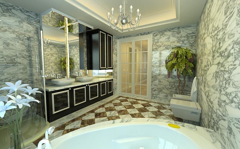 简约 卫生间图片来自紫禁尚品设计师李擎在首开国风美堂新古典风格的分享