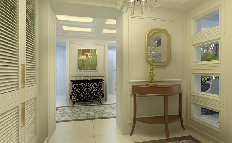 简约 玄关图片来自紫禁尚品设计师李擎在首开国风美堂新古典风格的分享
