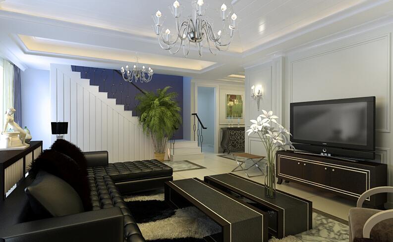 简约 客厅图片来自紫禁尚品设计师李擎在首开国风美堂新古典风格的分享
