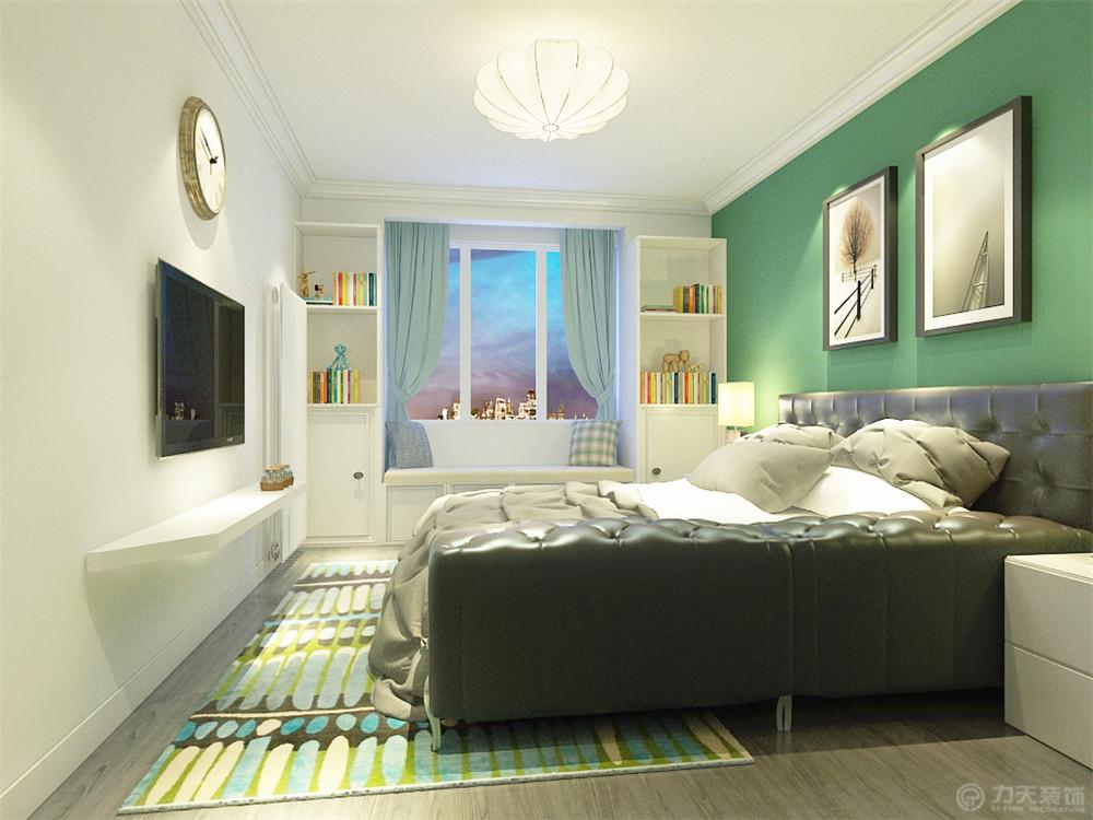 混搭 一居 白领 收纳 80后 小资 卧室图片来自阳光力天装饰在力天装饰-风湖里57㎡的分享