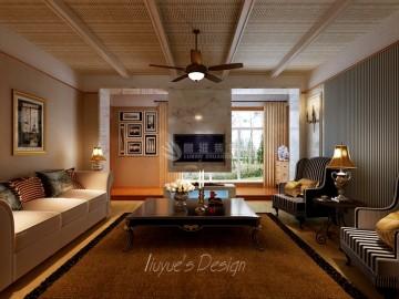 莱安逸辉-四居室-美式设计案例