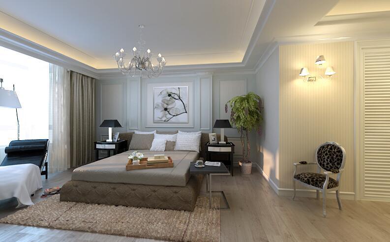 简约 卧室图片来自紫禁尚品设计师李擎在首开国风美堂新古典风格的分享