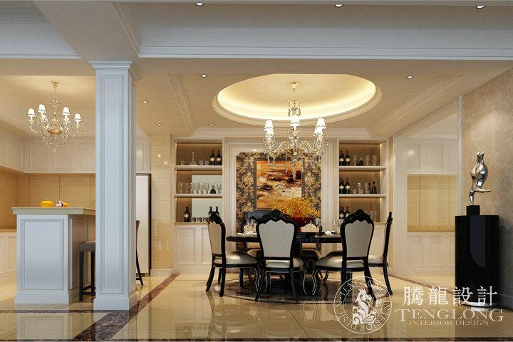 富力湾 别墅装修 别墅设计 欧式风格 腾龙设计 徐文作品 餐厅图片来自室内设计师徐文在富力湾300平别墅现代欧式风格的分享