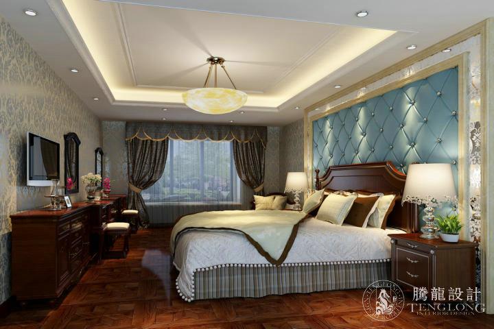 光明城市 别墅装修 别墅设计 欧式风格 腾龙设计 归宏华作品 卧室图片来自室内设计师归宏华在光明城市别墅装修欧式风格设计的分享