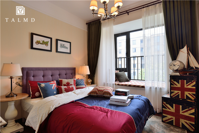 美式混搭 休闲风 家具定制 整屋定制 卧室图片来自TALMD图迈家居在【TALMD案例】美式混搭·万科城的分享