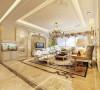 沈阳半岛公馆200平欧式风格客厅案例