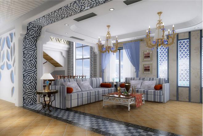 客厅图片来自天津印象装饰有限公司在都市新居装饰案例赏析2105-10-16的分享