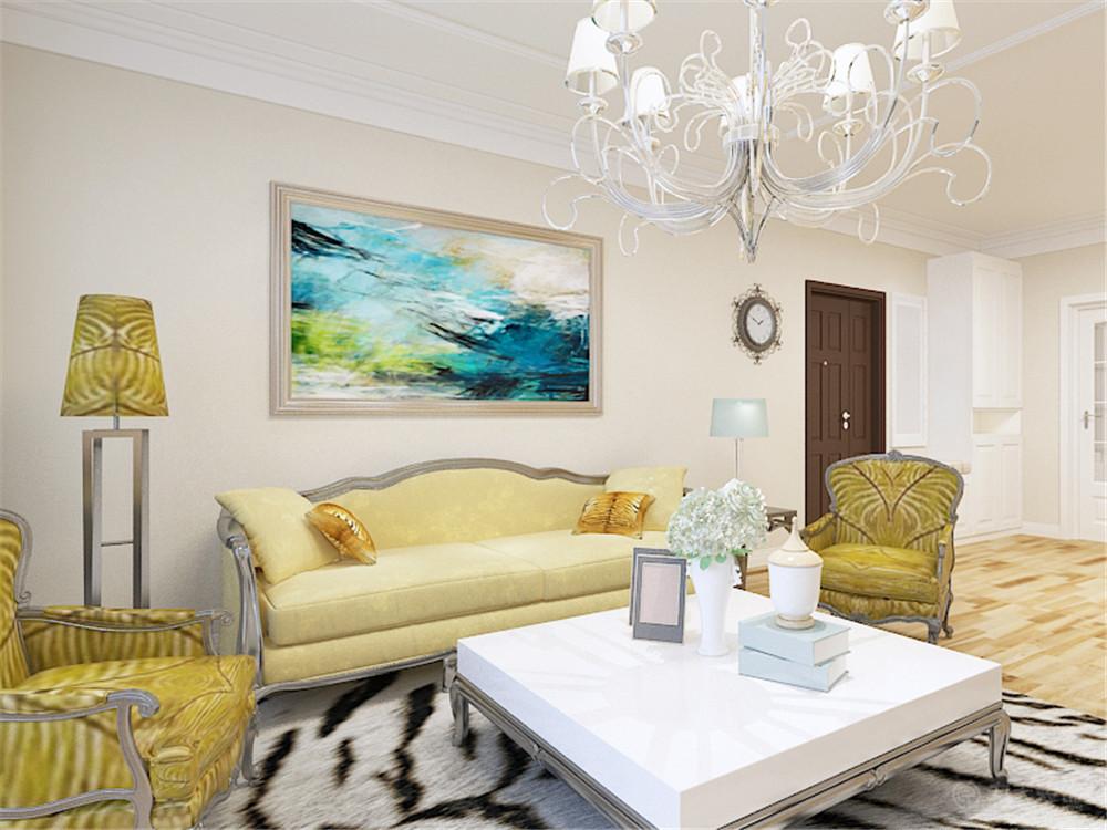 二居 80后 小资 欧式 客厅图片来自阳光放扉er在力天装饰-欣荣嘉园104㎡的分享