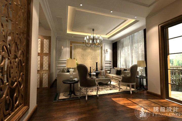 合生城邦 别墅装修 别墅设计 美式风格 腾龙设计 龚之涵作品 客厅图片来自室内设计师龚之涵在合生城邦别墅装修设计参考案例的分享