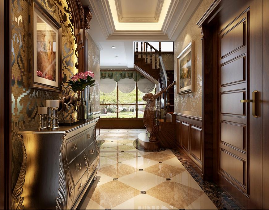 复式 凤凰池 欧式 鲁班装饰 刘燕飞 楼梯图片来自陕西鲁班装饰公司在曲江·凤凰池-380㎡-古典欧式风格的分享