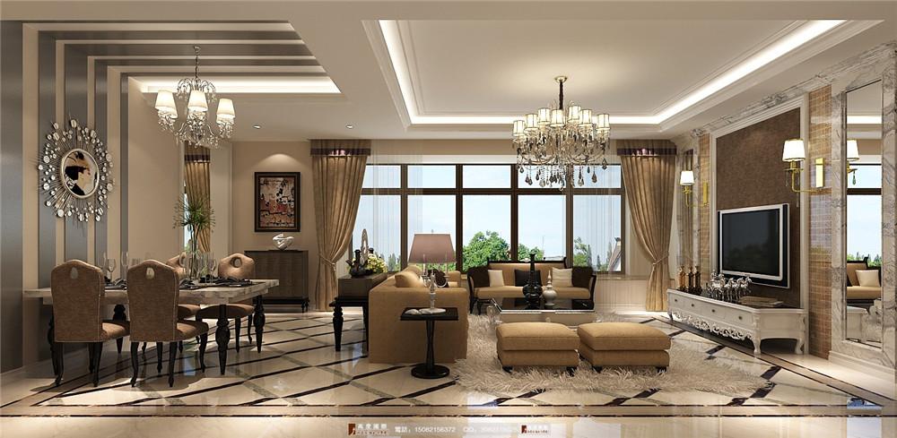 高度国际 成都装修 新房装修 别墅装修 客厅图片来自成都高端别墅装修瑞瑞在欧式风格案例析.高度国际装饰的分享