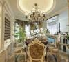 沈阳半岛公馆200平欧式风格餐厅案例