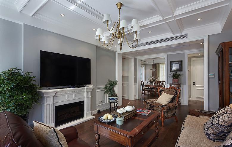 客厅图片来自家装大管家在最美139平美式风格 恬淡中小清新的分享
