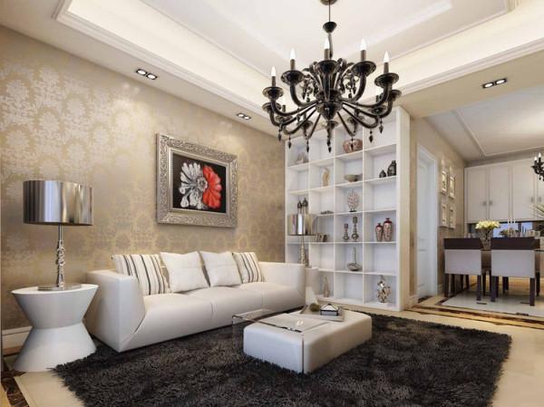 长江一号88平米简欧风格两室两厅装修效果图