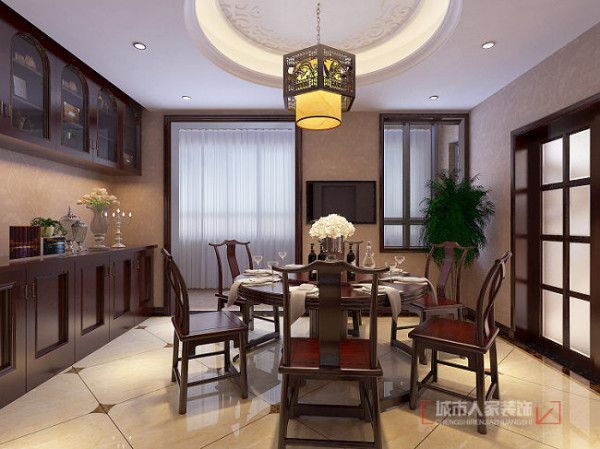 开元壹号237平米中式装修 餐厅