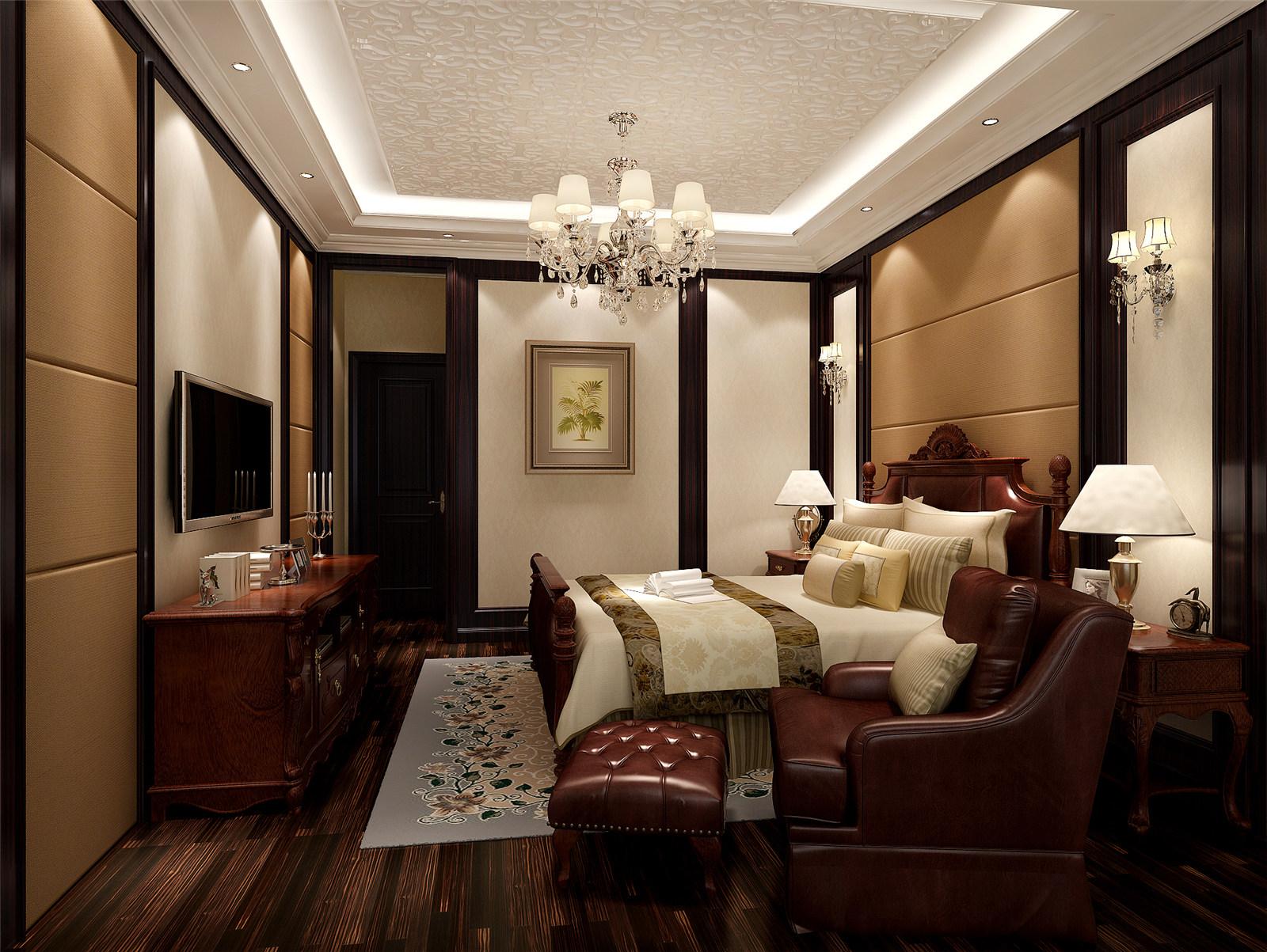 古北大城公 装修设计 美式风格 腾龙设计 季蓓菁作品 卧室图片来自腾龙设计在古北大城公馆装修美式风格设计的分享