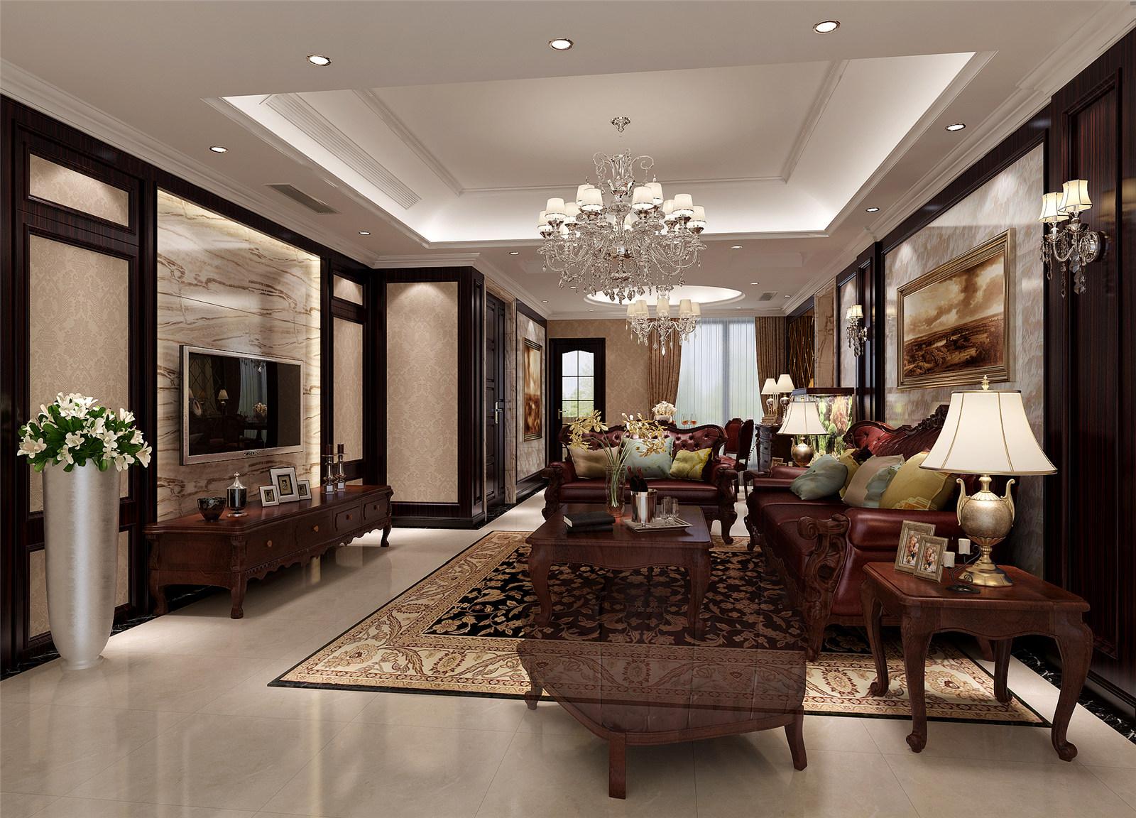 古北大城公 装修设计 美式风格 腾龙设计 季蓓菁作品 客厅图片来自腾龙设计在古北大城公馆装修美式风格设计的分享