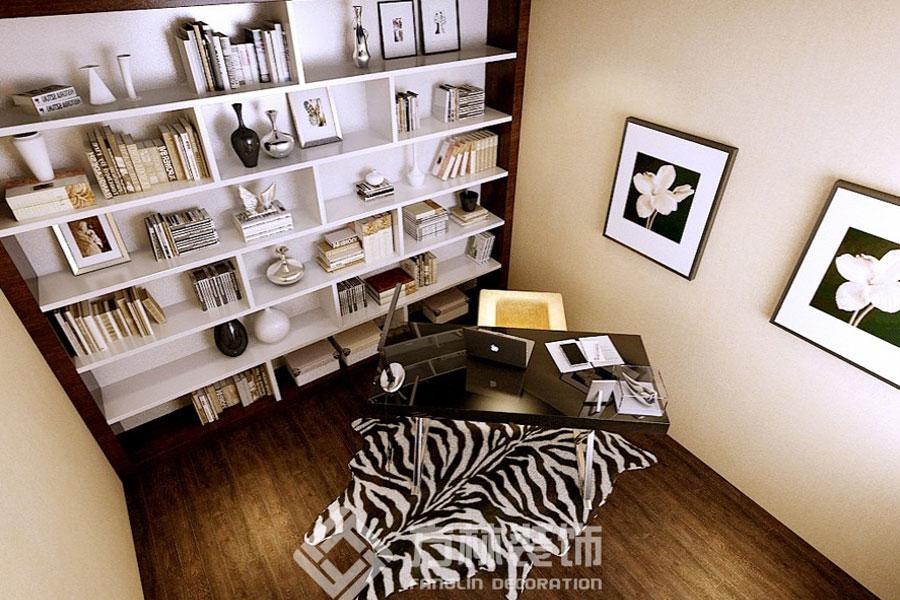 中海国际社 现代简约 书房图片来自方林装饰在中海国际社区130平现代简约风格的分享