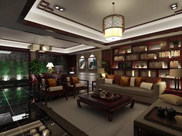 东海御庭别墅装修新中式风格设计