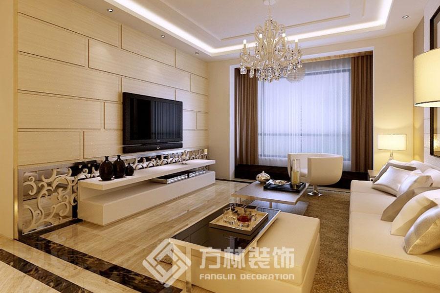 中海国际社 现代简约 客厅图片来自方林装饰在中海国际社区130平现代简约风格的分享