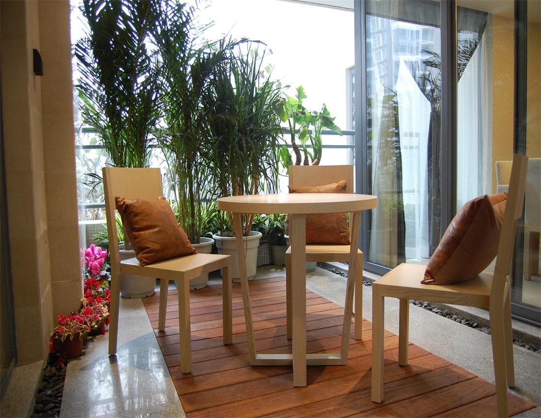 欧式 二居 休闲区域 阳台图片来自上海蓝图空间在欧式逸静的分享