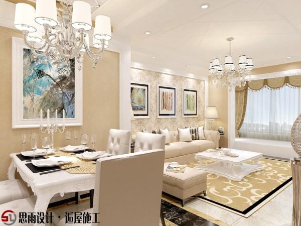 同样是运用了素色的主题,与客厅显得更配,墙上的壁画,无不突出这家主人的气质,椅背的颜色与吊灯的颜色那么和谐,一家三口在这样的环境吃饭,惬意,浪漫又不失文雅。