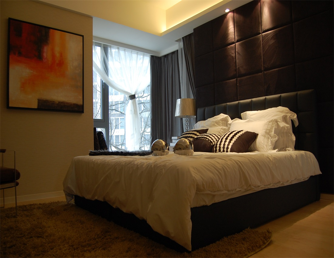 欧式 二居 卧室图片来自上海蓝图空间在欧式逸静的分享