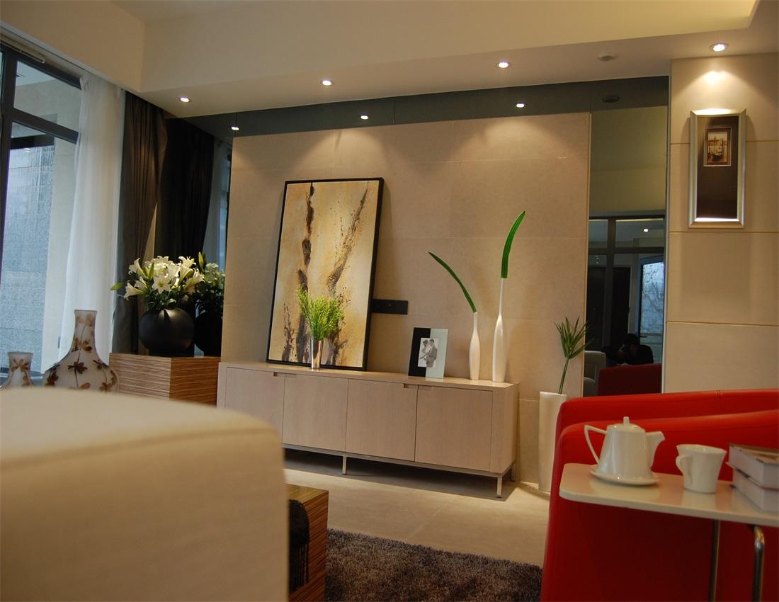 欧式 二居 电视柜 背景墙图片来自上海蓝图空间在欧式逸静的分享