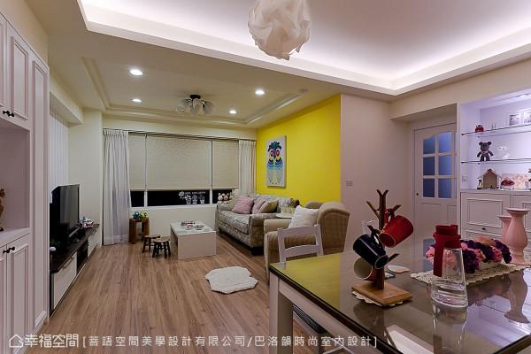 局部装修客餐厅、主卧与卫浴,经过菩语空间美学设计的格局微调,呈现出宽敞且合理的生活样貌。