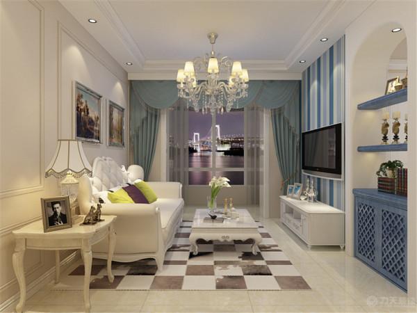 本案为北斗星城两室一厅一厨一卫82平米户型,和业主商量后,我们将本案定义为欧式风格。