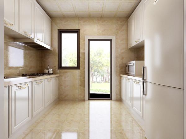 整体以象牙白为主色调,色泽平均一致,使厨房的光线显得十分柔和,给人温馨的感觉。柜面、柜门等采用吸塑板加之正面采用PVC饰面,使其表面光滑平整,无波纹,无杂质,并起到阻燃、耐热、防潮、防水等作用。
