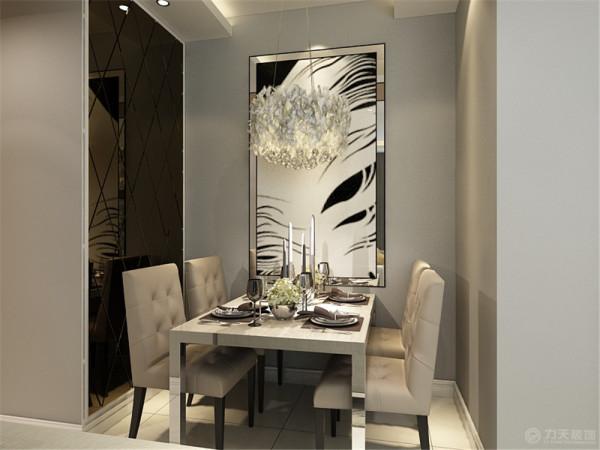 从入户门进入,奶白色墙面让整个空间更加温馨柔和,客厅餐厅地面斜铺800*800的米黄色地砖,吊顶为石膏板结合暖黄LED灯带的的造型;