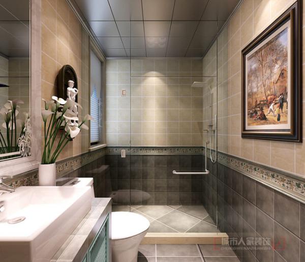 保利拉菲公馆140平米装修设计 欧式田园风格 卫生间