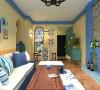 花果园70平米地中海风格装修案列