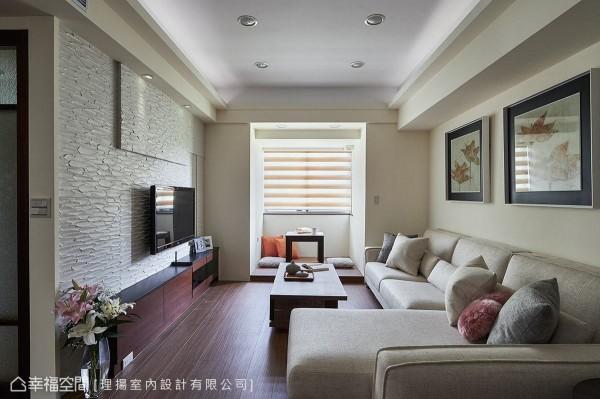 全室以日式禅风为主轴,运用木质元素铺陈温润质感,窗边的休憩角落更有如和室般的古朴质韵。