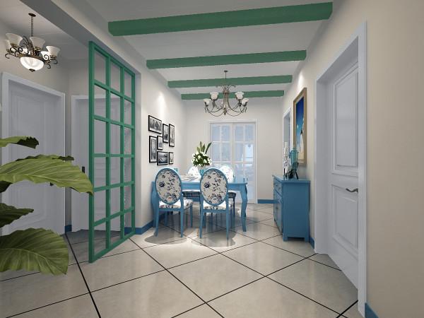 餐厅,地中海风格也按照地域自然出现了三种典型的颜色搭配。白色蓝色 ,绿色颜色比较做旧,自然的风吹日晒,比较自然。