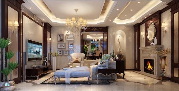 合生城邦7号别墅装修欧式风格设计方案展示,腾龙别墅设计师龚之涵作品,欢迎品鉴!