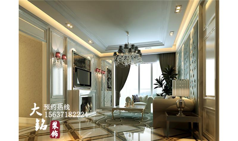 欧式 80后 三居 小资 简欧设计 客厅图片来自凤羽飞sun在124平方米简欧设计案例的分享