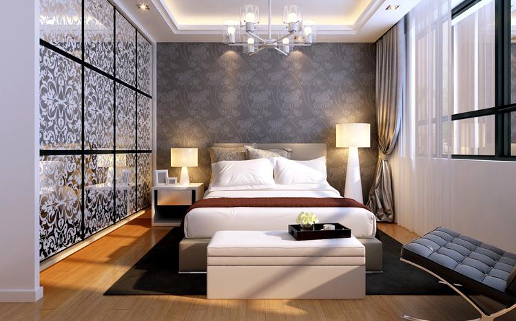 九龙城 现代简约风 90平米 三居室 装修设计 卧室图片来自郑州实创-整套家装在九龙城简约风格装修设计案例的分享